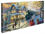 All Aboard for Christmas Panoramic Canvas Wrap