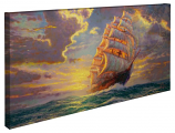 Courageous Voyage Panoramic Canvas Wrap
