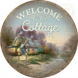 Teacup Cottage Round Wood Sign