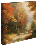 "A Walk Down Autumn Lane 14""x14"" Gallery Wrap"