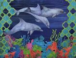 Geometric Dolphin Art