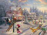 Mickey's Victorian Christmas Painting