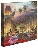 """Mickey & Minnie In Hollywood 14""""x14""""Canvas Wrap"""