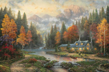 Evening at Autumn Lake Painting