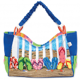 Coastal Flip Flops Medium Scoop Bag