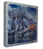 The Battle of Hoth Metal Art Box