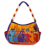 Feline Tribe Medium Hobo Bag
