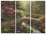 Bridge of Faith Triptych Canvas Wrap