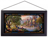Beauty and the Beast II Framed Glass Art