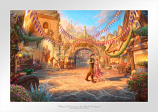 Rapunzel Dancing in the Sunlit Courtyard Paper Edition