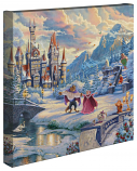 "Beauty & the Beast Winter Enchantment 14""x14"" Canvas Wrap"
