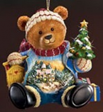 Waiting for a White Christmas Bear Ornament
