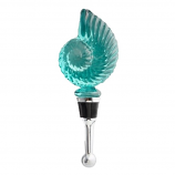 Biscayne Nautilus Shell Glass Bottle Stopper