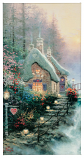 Sweetheart Cottage II Panoramic Canvas Wrap