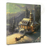 Sunday Evening Sleigh Ride Canvas Wrap
