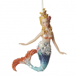 Blue Tail Mermaid Ornament