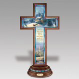 Glory Illuminated Stained Glass Cross