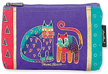 Two Standing Cats Cosmetic Bag