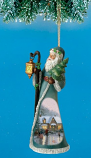 Holiday Spirit Santa Ornament