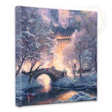 """Holiday at Central Park 14""""x14"""" Canvas Wrap"""