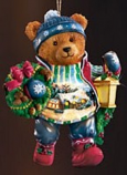Decking the Doorways Bear Ornament