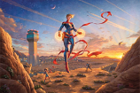 Captain Marvel Dawn of a New Day Painting