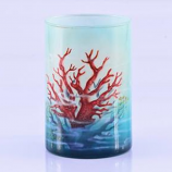 Red Coral Candle Holder