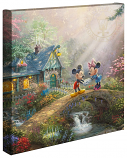 "Mickey & Minnie Sweetheart Bridge 14""x14"" Canvas Wrap"