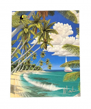 Paradise at Noon Matted Art Print