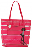 Dog Walking Girl Pink Bag