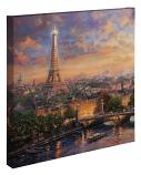 """Paris City of Love Canvas Wrap 20""""x20"""""""
