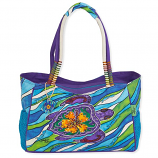 Hibiscus Turtle Medium Bag