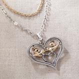 Lovebirds in Heart Necklace