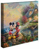 Mickey and Minnie Sweetheart Cove Canvas Wrap