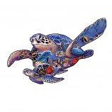 Swimming Lessons Sea Turtle Shape Puzzle