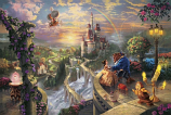 Beauty and the Beast Falling in Love Painting