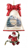 This Home Believes Snowman Bell Ornament