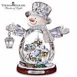White Christmas Crystal Snowman