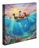 Little Mermaid Falling in Love Canvas Wrap