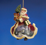 Festive Christmas Santa Ornament