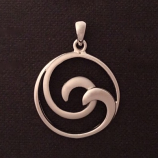 Double Wave Pendant Charm