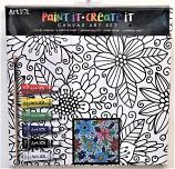 Flowers Canvas Paint Kit