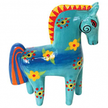 Flower Power Horse Figurine
