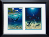 Dreaming of Paradise & Dolphin Heaven Framed Print