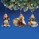 Old World Santa Ornament Set 5