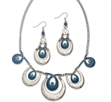 Arianna Blue Loop Necklace & Earring Set