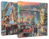 The Lights of Christmastown - Set of 2 Canvas Wraps