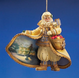 Christmas Snowfall Santa Ornament
