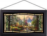 Dogwood Chapel Framed Glass Art