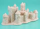 "Horizontal White Sand Castle (7.5"" Wide)"